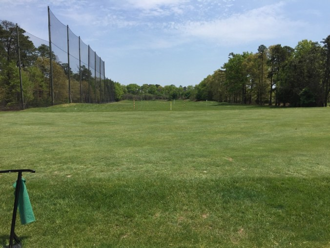 Harbor Pines Golf Club driving range.